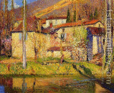 Landscape near Toulouse by Henri Martin - Reproduction Oil Painting