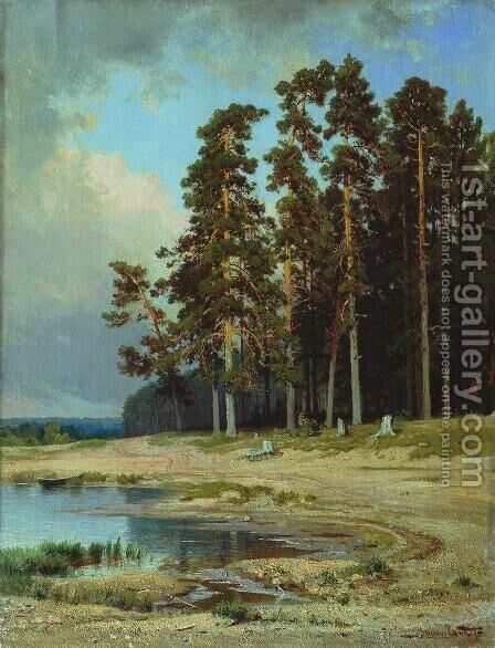 Forest 6 by Ivan Shishkin - Reproduction Oil Painting