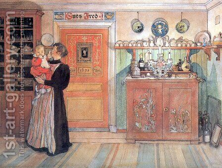 Between Christmas and New Aco by Carl Larsson - Reproduction Oil Painting
