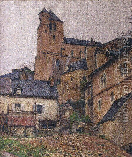 Saint-Cirq Lapopie Square by Henri Martin - Reproduction Oil Painting
