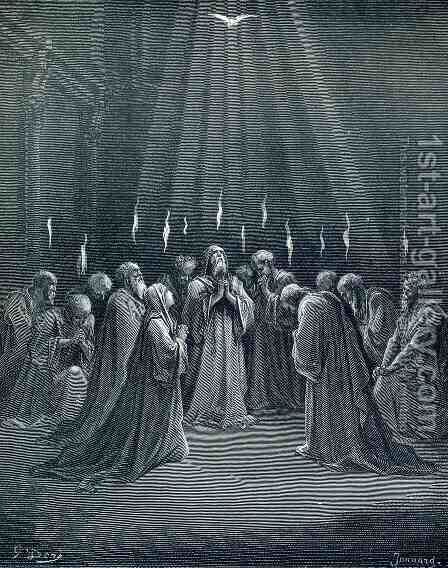 The Descent Of The Spirit by Gustave Dore - Reproduction Oil Painting