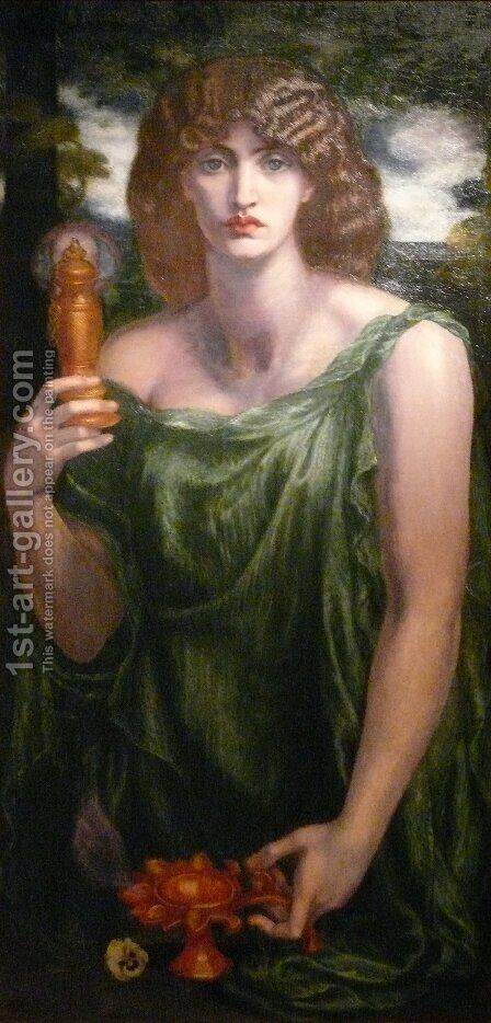 Mnemosyne by Dante Gabriel Rossetti - Reproduction Oil Painting