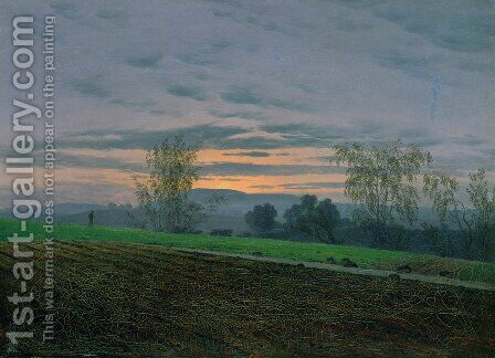 Plowed field by Caspar David Friedrich - Reproduction Oil Painting