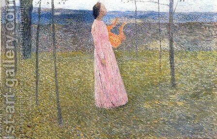 Muse in the Fields by Henri Martin - Reproduction Oil Painting