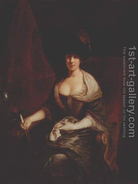 Portrait of Mary Susanne Dinglinger, born Gutermann by Antoine Pesne - Reproduction Oil Painting