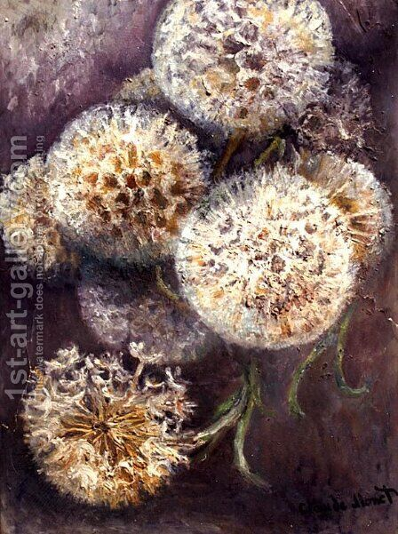 Dandelions by Claude Oscar Monet - Reproduction Oil Painting