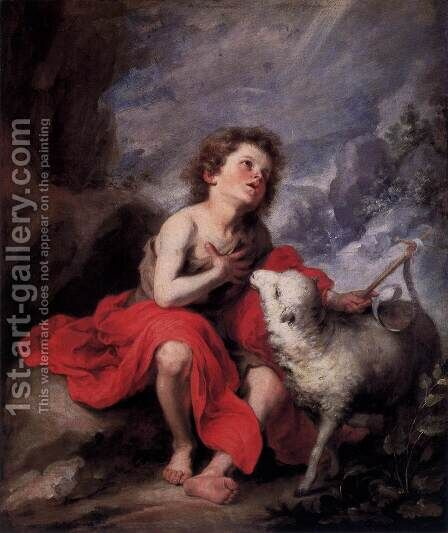St. John the Baptist as a Child by Bartolome Esteban Murillo - Reproduction Oil Painting