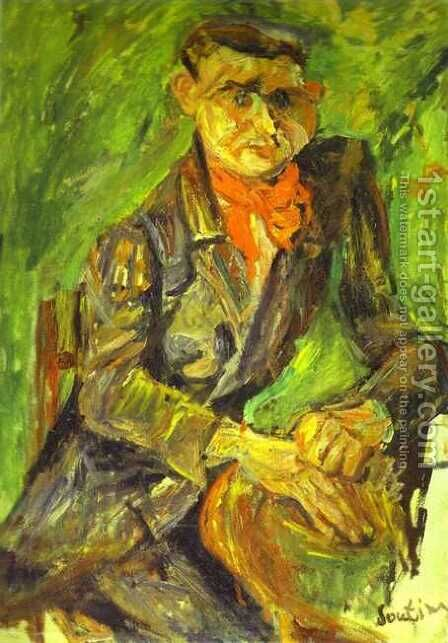 Portrait of Moise Kisling by Chaim Soutine - Reproduction Oil Painting