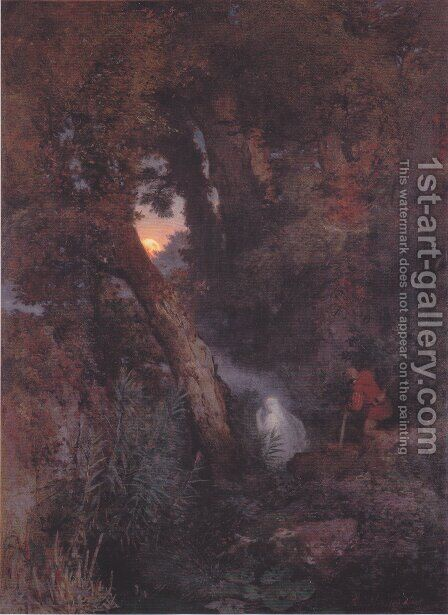 Will-o'-the-wisp by Arnold Böcklin - Reproduction Oil Painting