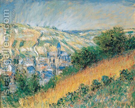 View over Vetheuil 2 by Claude Oscar Monet - Reproduction Oil Painting