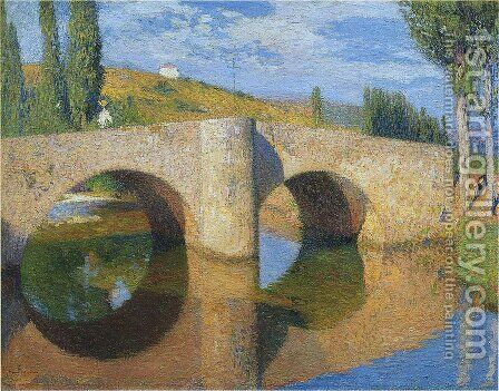 The Bridge in Labastide du Vert 6 by Henri Martin - Reproduction Oil Painting