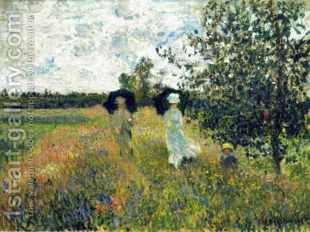 The Promenade near Argenteuil by Claude Oscar Monet - Reproduction Oil Painting