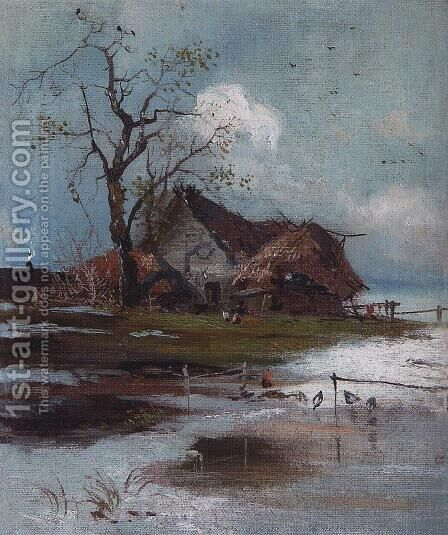 Spring 4 by Alexei Kondratyevich Savrasov - Reproduction Oil Painting