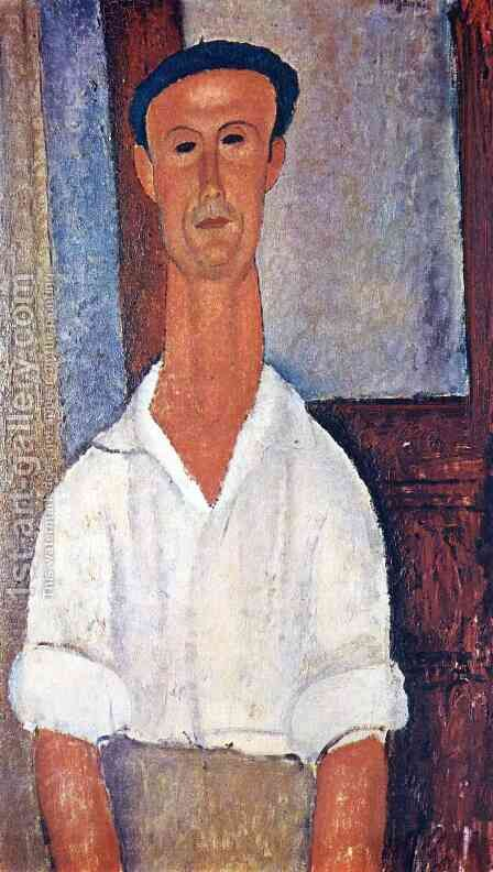 Unknown 4 by Amedeo Modigliani - Reproduction Oil Painting