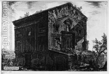 Interior view of the Temple by Giovanni Battista Piranesi - Reproduction Oil Painting