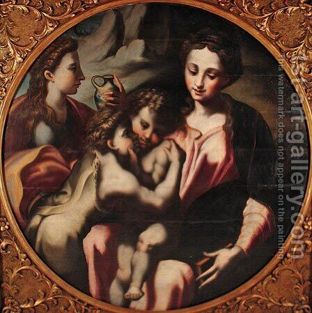 Unknown 2 by Girolamo Francesco Maria Mazzola (Parmigianino) - Reproduction Oil Painting