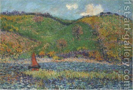 The Belon River by Gustave Loiseau - Reproduction Oil Painting