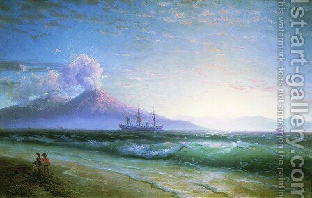 The Bay of Naples early in the morning by Ivan Konstantinovich Aivazovsky - Reproduction Oil Painting