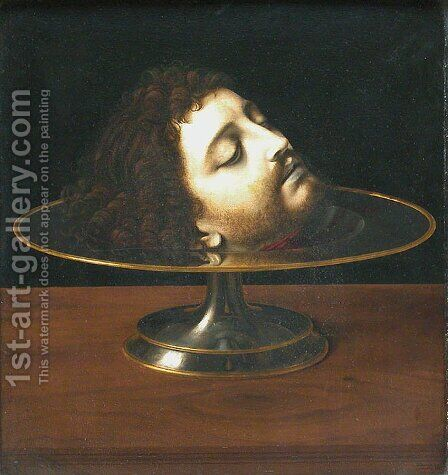 Head of St. John the Baptist by Andrea Solario - Reproduction Oil Painting