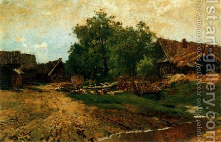 Village Savvinskaya by Isaak Ilyich Levitan - Reproduction Oil Painting