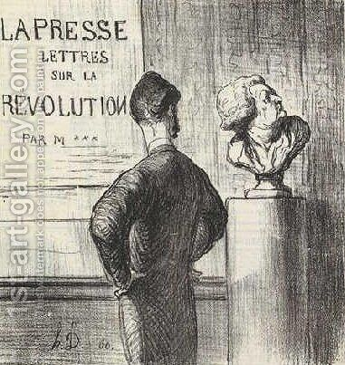 I definitely like him by Honoré Daumier - Reproduction Oil Painting