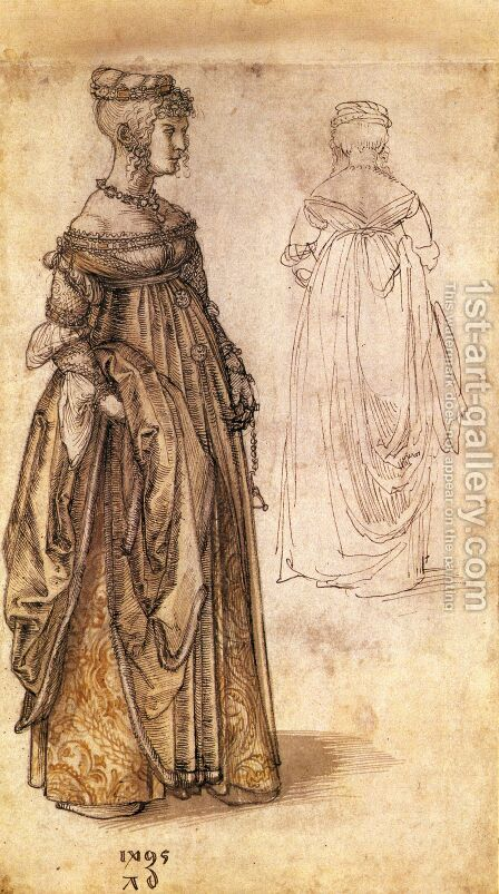 Two Venetian women by Albrecht Durer - Reproduction Oil Painting