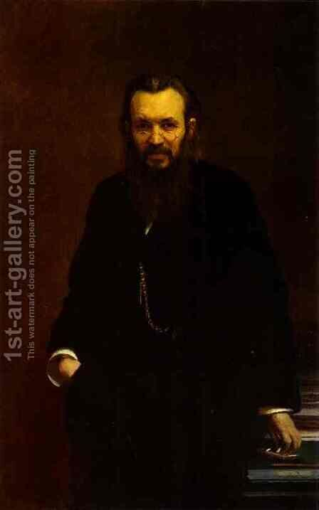 Portrait of Alexei Suvorin by Ivan Nikolaevich Kramskoy - Reproduction Oil Painting