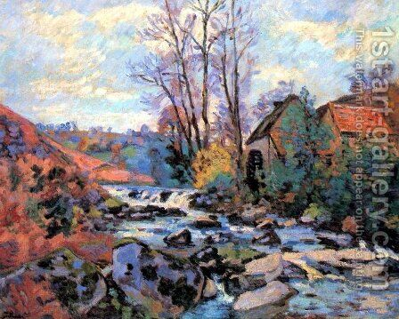 Moulin Bouchardon, Crozant 2 by Armand Guillaumin - Reproduction Oil Painting