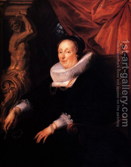 Portrait of the wife of Johan Wierts by Jacob Jordaens - Reproduction Oil Painting