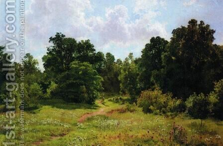 Edge of the deciduous forest by Ivan Shishkin - Reproduction Oil Painting