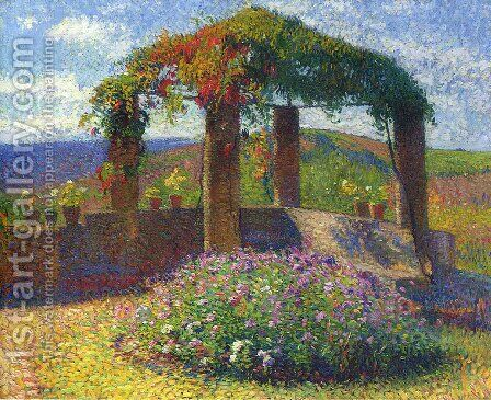 The Gloriette by Henri Martin - Reproduction Oil Painting