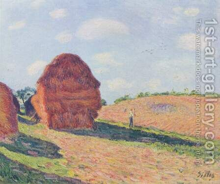 The straw Rent by Alfred Sisley - Reproduction Oil Painting