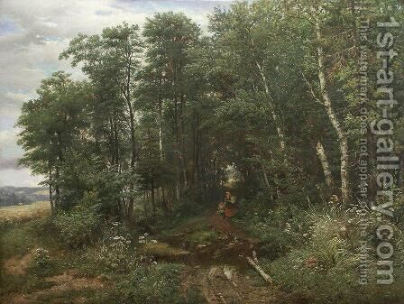 Mushroom pickers by Ivan Shishkin - Reproduction Oil Painting