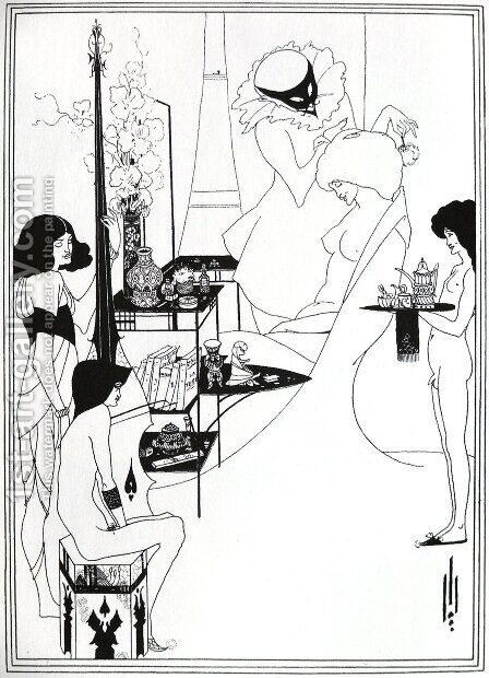 The Toilette of Salome by Aubrey Vincent Beardsley - Reproduction Oil Painting