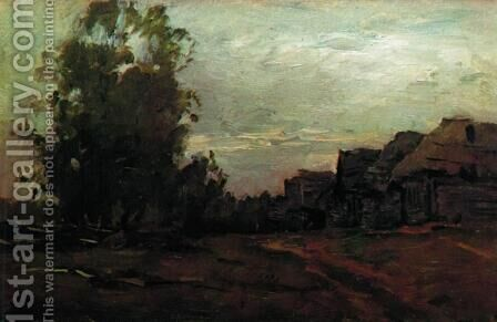 Village. Twilight. by Isaak Ilyich Levitan - Reproduction Oil Painting