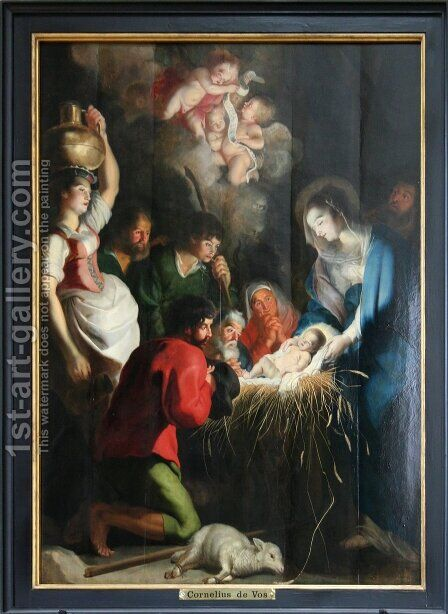 The Birth of Jesus by Cornelis De Vos - Reproduction Oil Painting