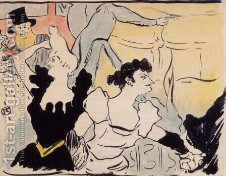 The ball by Toulouse-Lautrec - Reproduction Oil Painting