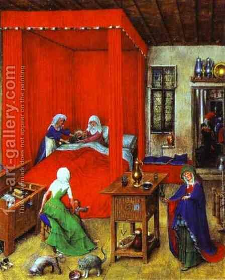 The Birth of John the Baptist by Jan Van Eyck - Reproduction Oil Painting