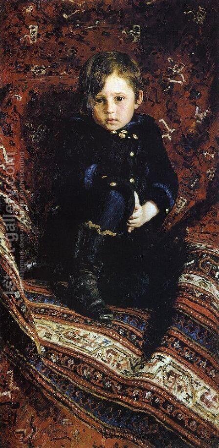 Portrait of Yuriy Repin, the Artist's son by Ilya Efimovich Efimovich Repin - Reproduction Oil Painting
