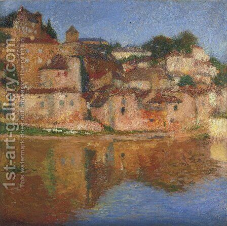 View of Puy l'Eveque 2 by Henri Martin - Reproduction Oil Painting