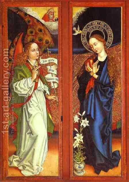 Annunciation by Martin Schongauer - Reproduction Oil Painting