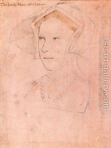 Queen Mary I Tudor by Hans, the Younger Holbein - Reproduction Oil Painting