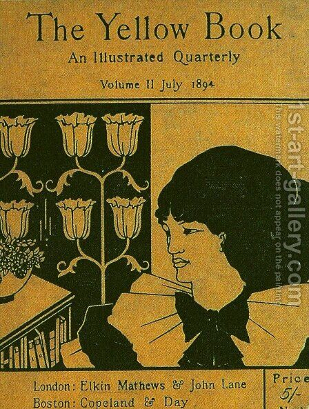 The cover of The Yellow Book by Aubrey Vincent Beardsley - Reproduction Oil Painting