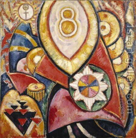 Painting No. 48 by Marsden Hartley - Reproduction Oil Painting