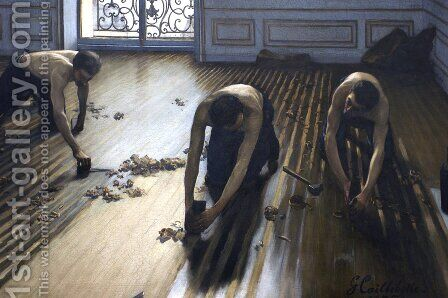 The Parquet Planers 2 by Gustave Caillebotte - Reproduction Oil Painting