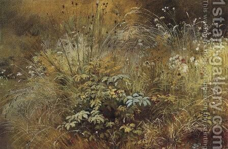 Grass by Ivan Shishkin - Reproduction Oil Painting