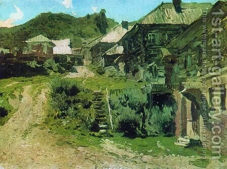View in Plyos by Isaak Ilyich Levitan - Reproduction Oil Painting