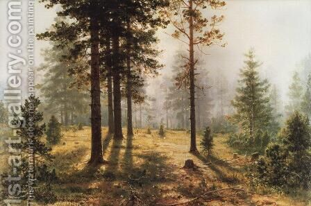 Fog in the forest by Ivan Shishkin - Reproduction Oil Painting