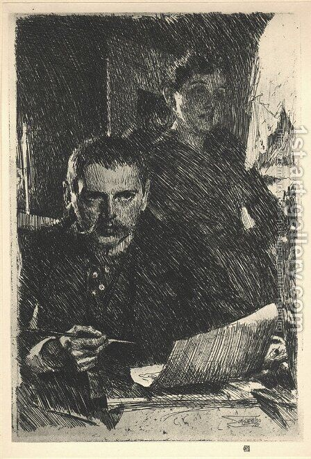 Zorn and his Wife by Anders Zorn - Reproduction Oil Painting