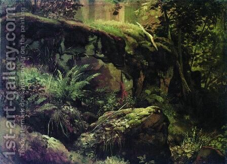 Stones in the forest. Valaam by Ivan Shishkin - Reproduction Oil Painting